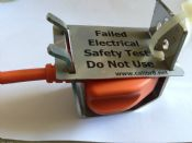 UK 13A Plug Lockout Device For PAT Testing